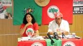 Marina dos Santos e Diego Moreira destacaram os principais desafios e avanços do movimento na luta pela Reforma Agrária